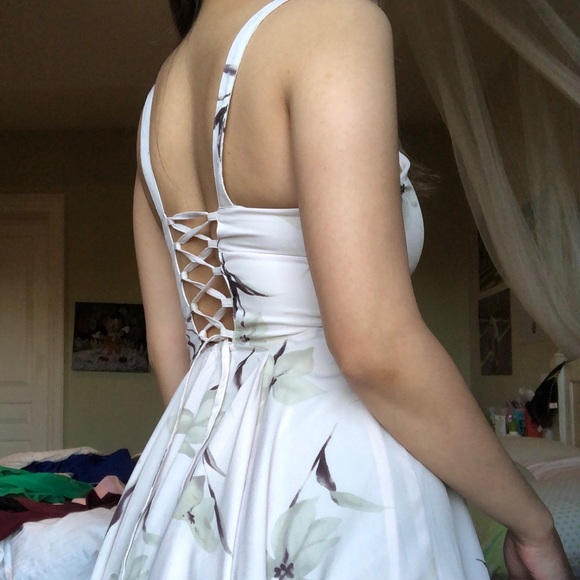 Urban Outfitters Floral Lace Up Back Dress